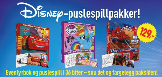 Disney puslespillpakker