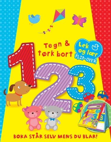 Tegn og tørk bort 123 (lek og lær flipover)