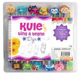 Kule ting å tegne (12 pack med blyanter med viskelærfigurer)