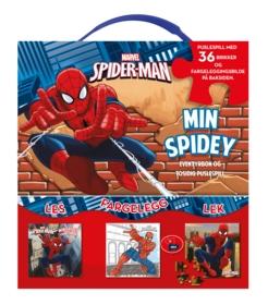 Spider-Man Eventyrbok og tosidig puslespill. Aktivitetsbok og tosidig puslespill Lek! Les! Fargelegg!