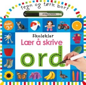 Lær å skrive ord. Tegn og tørk bort