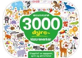 Aktivitetspad – 3000 DYRE-klistremerker