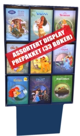 Display Disney Klassikere (33 bøker prepakk)
