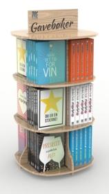 Display gavebøker 3 etasjer (12 lommer, 60 bøker)
