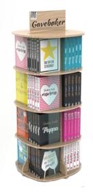 Display gavebøker 4 etasjer (16 lommer, 80 bøker)