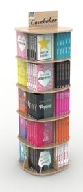 Display gavebøker 5 etasjer (20 lommer, 100 bøker)